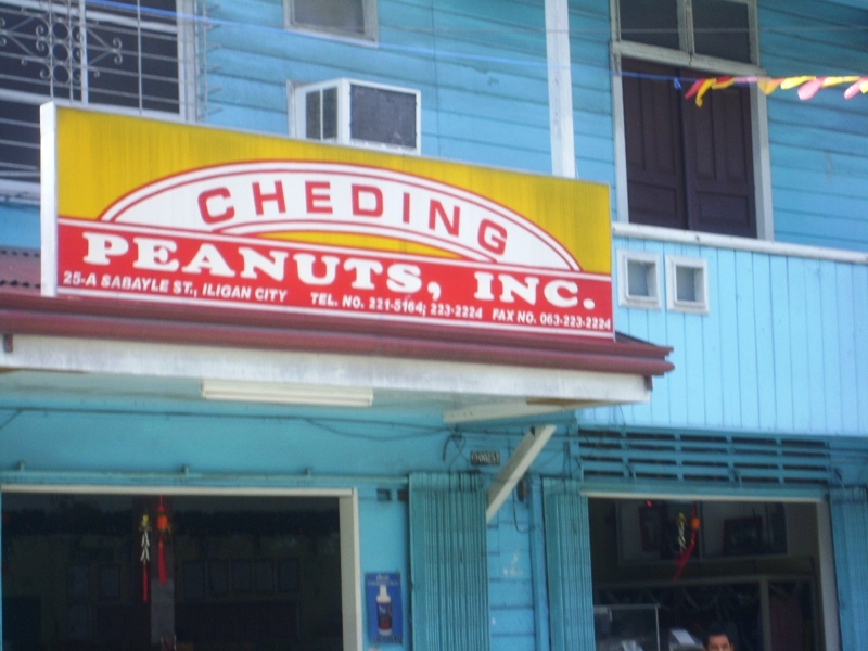 Chedings Peanuts store in Sabayle Street